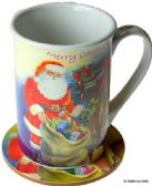 SANTA / FATHER CHRISTMAS MUG AND COASTER SET